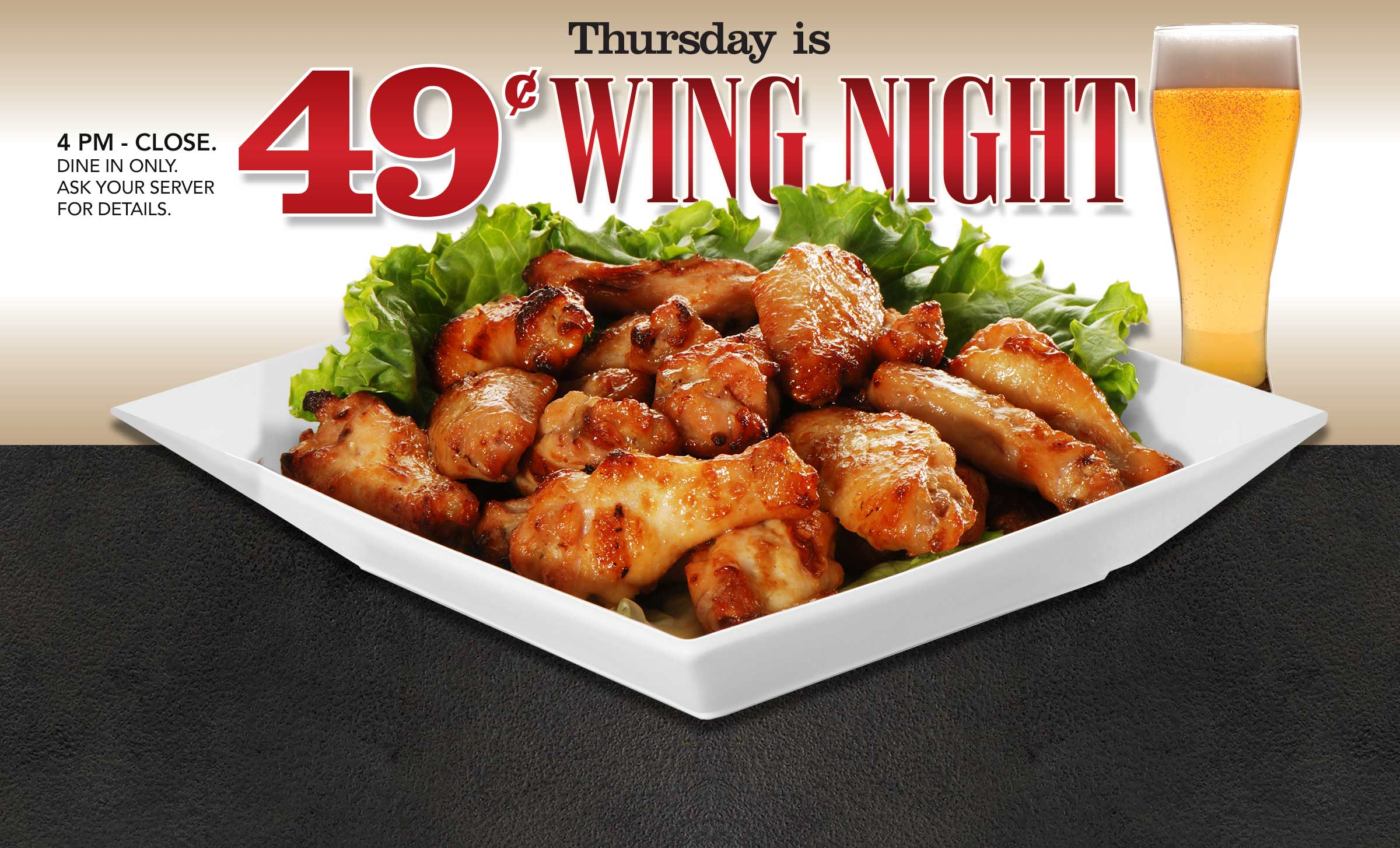 Thursday is Wing-Night!